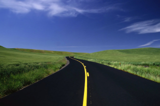Road Landscape and Heaven - Fondos de pantalla gratis para Blackberry RIM Curve 9360