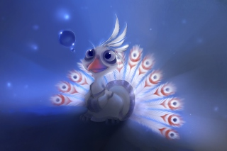Cute Peacock - Obrázkek zdarma pro 720x320
