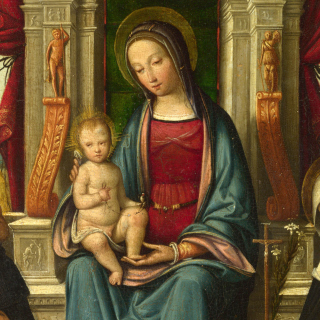 St Dominic and Rosary - Obrázkek zdarma pro 128x128