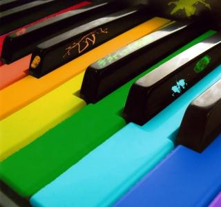 Rainbow Piano - Obrázkek zdarma pro iPad mini 2