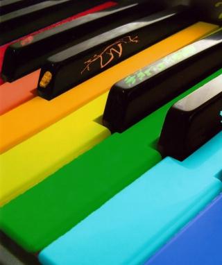 Rainbow Piano - Obrázkek zdarma pro Nokia Lumia 800