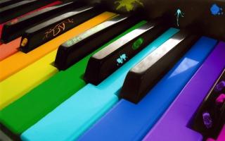 Rainbow Piano - Obrázkek zdarma pro Fullscreen Desktop 800x600