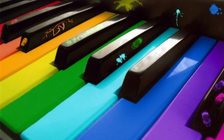 Rainbow Piano - Obrázkek zdarma pro LG P970 Optimus