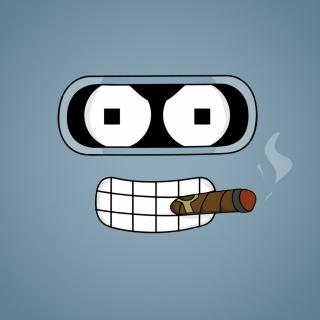 Futurama Bender Cigar - Obrázkek zdarma pro iPad