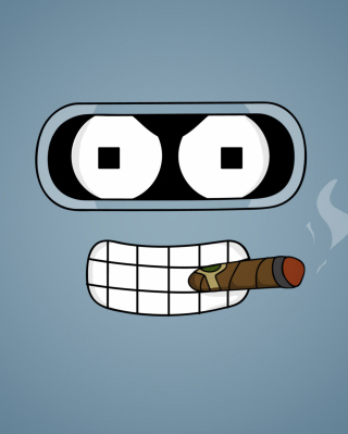 Futurama Bender Cigar - Obrázkek zdarma pro Nokia C2-02