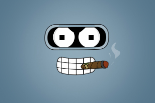 Free Futurama Bender Cigar Picture for Android, iPhone and iPad