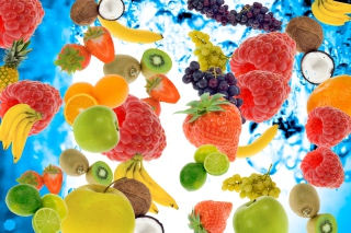 Berries And Fruits Background for Android, iPhone and iPad