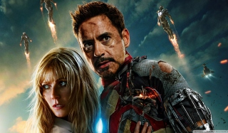 Iron Man 3 Tony Stark Pepper Potts Wallpaper for Android, iPhone and iPad