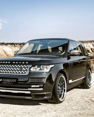 Land Rover Range Rover Black - Obrázkek zdarma pro Nokia Asha 308