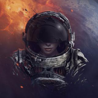 Women in Space - Obrázkek zdarma pro 1024x1024