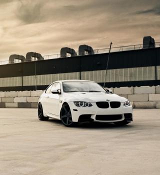 White Bmw Coupe - Obrázkek zdarma pro 320x320