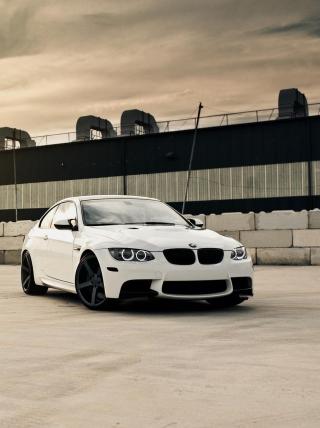 White Bmw Coupe - Obrázkek zdarma pro 480x640