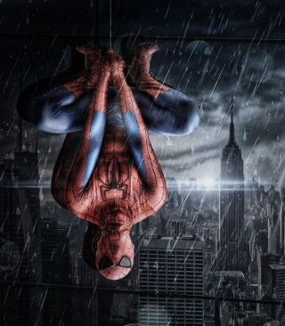 Spiderman Under Rain - Obrázkek zdarma pro Nokia Lumia 820