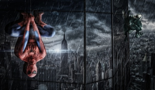 Spiderman Under Rain - Obrázkek zdarma pro Widescreen Desktop PC 1920x1080 Full HD