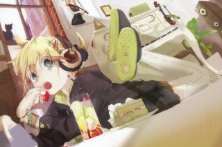 Vocaloid Hatsune Miku Girl - Obrázkek zdarma pro Motorola DROID 2