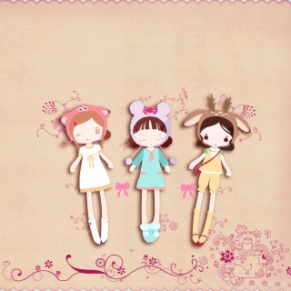 Cherished Friends Dolls - Obrázkek zdarma pro iPad 2