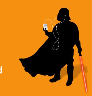 Darth Vader with iPod - Obrázkek zdarma pro iPad mini