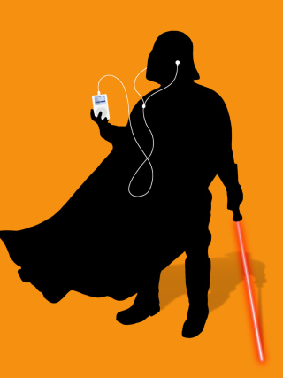 Darth Vader with iPod - Obrázkek zdarma pro iPhone 3G