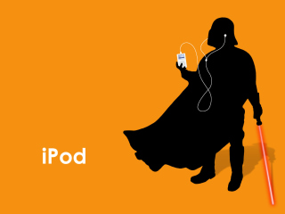 Darth Vader with iPod - Obrázkek zdarma pro Android 1600x1280