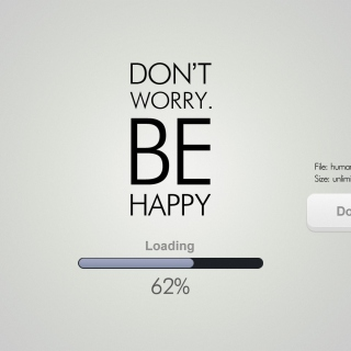 Don't Worry Be Happy Quote - Obrázkek zdarma pro iPad mini