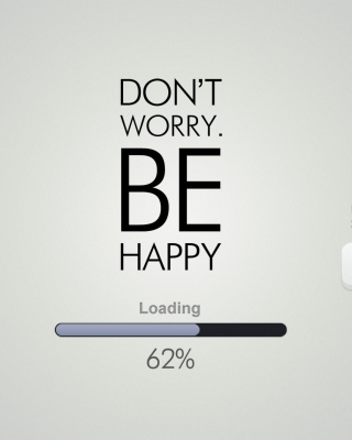 Don't Worry Be Happy Quote - Obrázkek zdarma pro iPhone 6