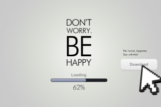 Don't Worry Be Happy Quote - Obrázkek zdarma pro Samsung Galaxy Note 2 N7100