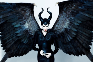 Angelina Jolie Maleficent - Obrázkek zdarma pro Samsung Galaxy S II 4G