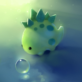 Green Dino - Obrázkek zdarma pro 1024x1024
