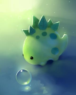 Green Dino - Obrázkek zdarma pro iPhone 5