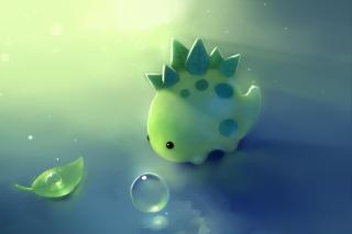 Green Dino - Obrázkek zdarma pro Samsung Galaxy Tab 3 10.1