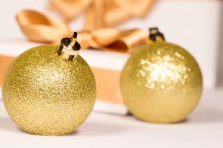 Gold Christmas Balls - Obrázkek zdarma pro Sony Xperia Tablet S