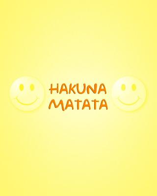 Hakuna Matata - Obrázkek zdarma pro iPhone 4S