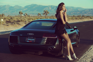 Audi R8 Girl Wallpaper for Android, iPhone and iPad