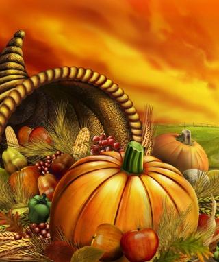 Thanksgiving Pumpkin - Obrázkek zdarma pro Nokia Asha 300