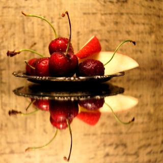 Cherries Acrylic Still Life - Obrázkek zdarma pro 208x208