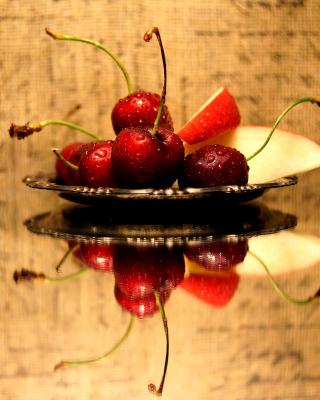 Cherries Acrylic Still Life - Obrázkek zdarma pro 360x640