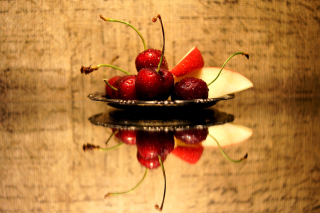 Cherries Acrylic Still Life Picture for Android, iPhone and iPad