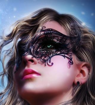 Girl Wearing Mask - Obrázkek zdarma pro iPad 2