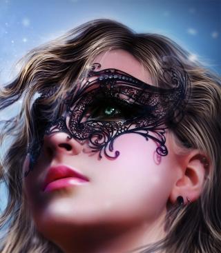 Girl Wearing Mask - Obrázkek zdarma pro Nokia Asha 202