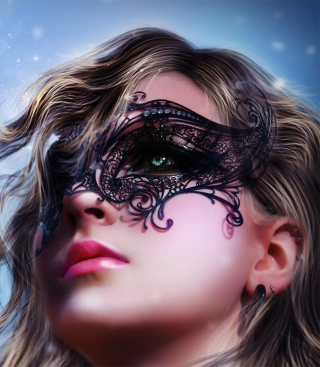 Girl Wearing Mask - Obrázkek zdarma pro 480x854