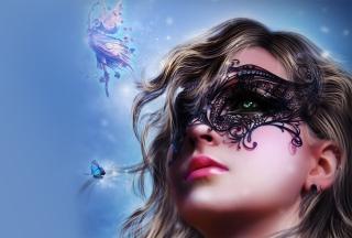 Girl Wearing Mask - Obrázkek zdarma pro Nokia Asha 205