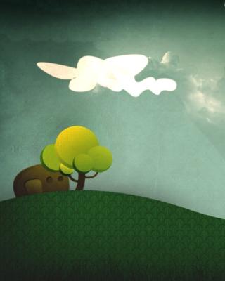 Elephant Hiding Behind Tree - Obrázkek zdarma pro iPhone 6
