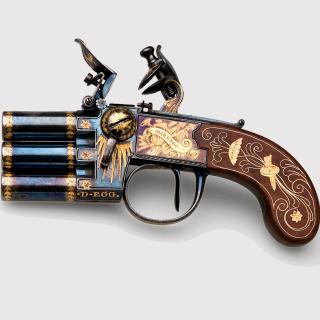 Napoleons Emperor three chamber Pistol Marengo - Obrázkek zdarma pro iPad Air