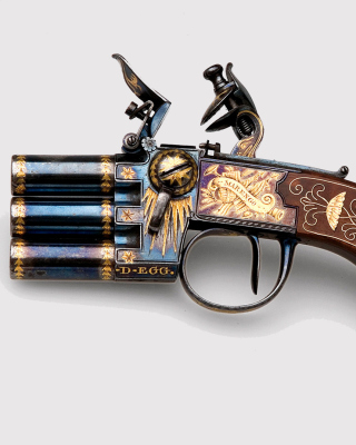 Napoleons Emperor three chamber Pistol Marengo - Obrázkek zdarma pro iPhone 5