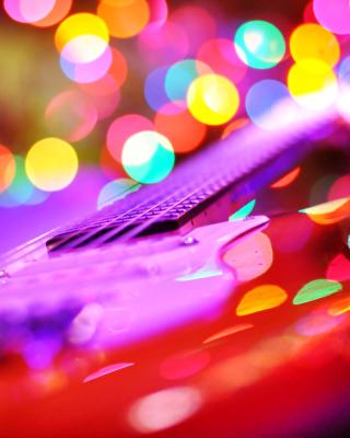 Bokeh Guitar - Obrázkek zdarma pro 352x416