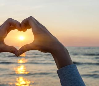 Love Sunset - Obrázkek zdarma pro 128x128