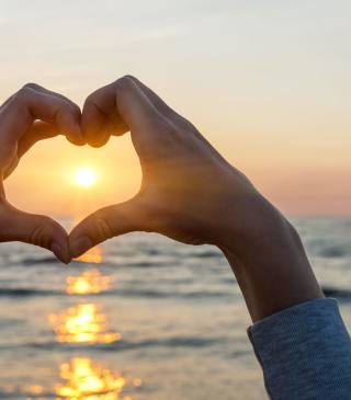 Love Sunset - Obrázkek zdarma pro iPhone 4
