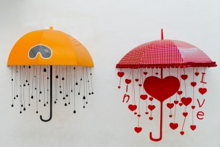 Love Umbrella Wallpaper for Android, iPhone and iPad