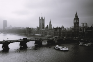 London City Black And White - Obrázkek zdarma pro Fullscreen 1152x864