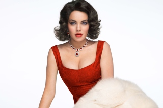 Lindsay Lohan As Elizabeth Taylor Background for Android, iPhone and iPad